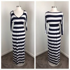Forever 21 I Love H-81 striped maxi dress